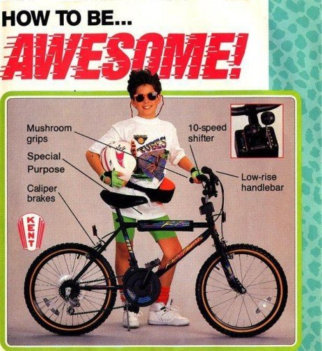 90 Cool Outdoor Halloween Decorating Ideas: 90s Bicycle Fashion: I Love Oxymorons.